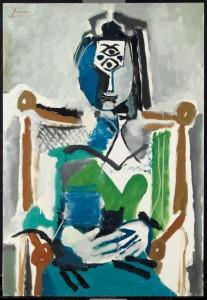 Donna seduta con gatto - Picasso