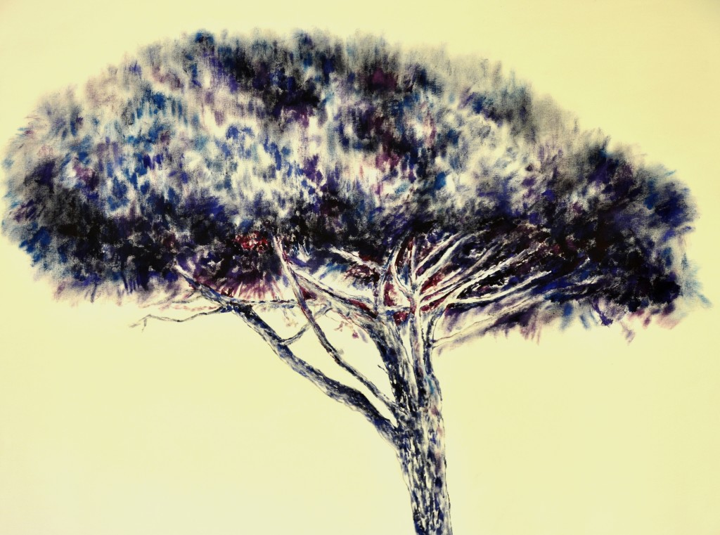 albero blu-100-100 acrilico su tela 2013