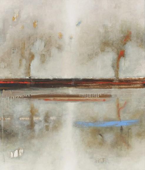 Fabio Salafia - Paesaggio doppio - olio su tela - 60x70