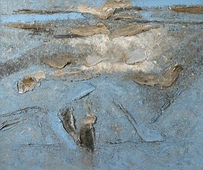 Piero Zuccaro, sospensione 2007 olio su tela 100x120 cm, LL