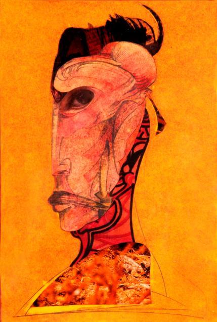La maschera dell'inquietudine tecnica mista su carta cm20x29